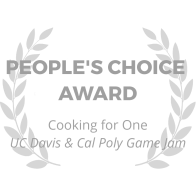 award-wreath_cooking-for-one_peoples-choice-award_gray