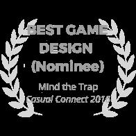 award-wreath_mind-the-trap_best-game-design_gray